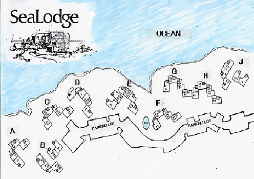 Map of Sealodge Resort buildings